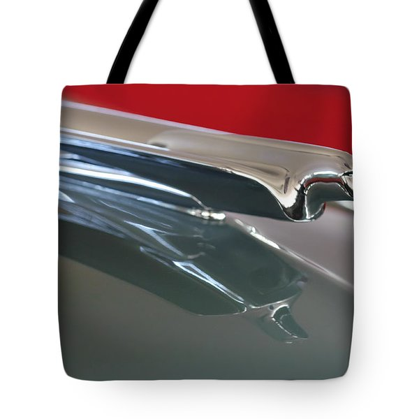 1948 Cadillac Series 62 Hood Ornament Tote Bag by Jill Reger