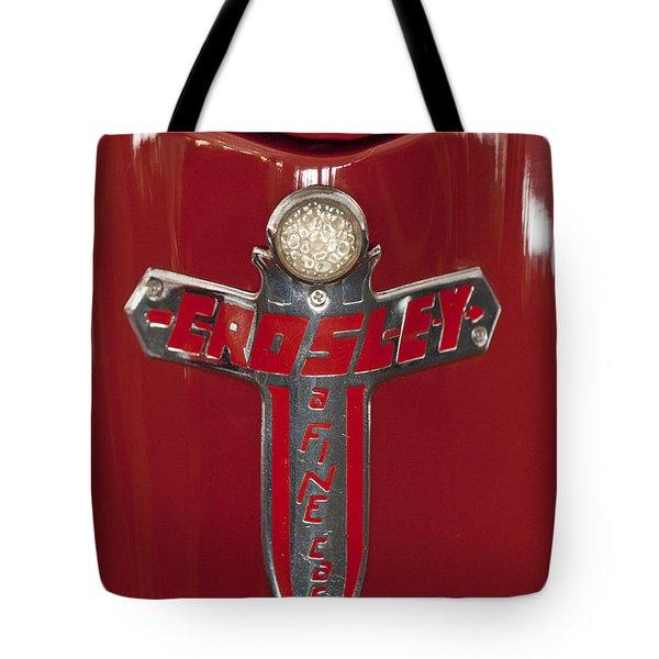 1948 Crosley Convertible Emblem Tote Bag by Jill Reger