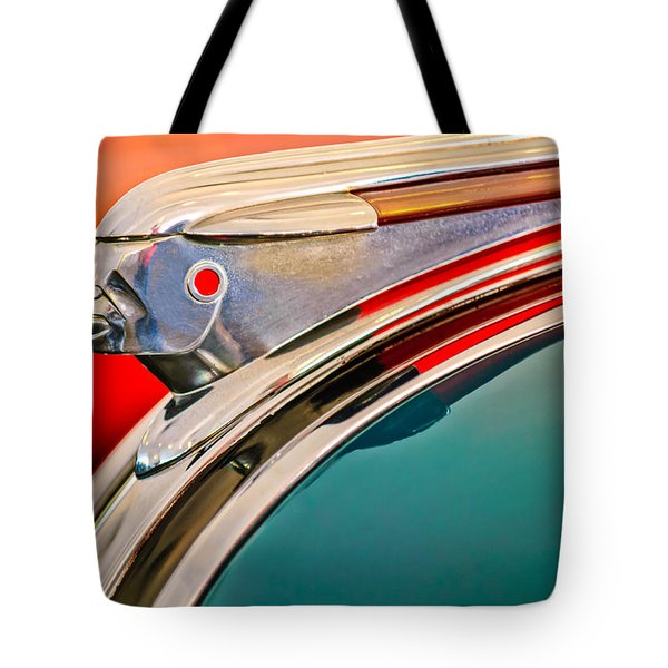 1948 Pontiac Chief Hood Ornament Tote Bag by Jill Reger