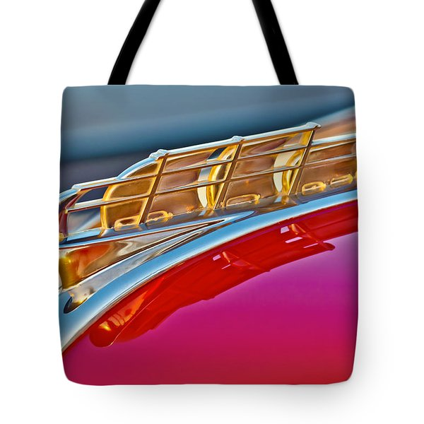 1949 Plymouth Hood Ornament Tote Bag by Jill Reger