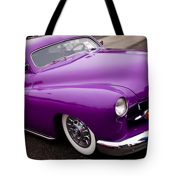 1950 Purple Mercury Tote Bag by David Patterson