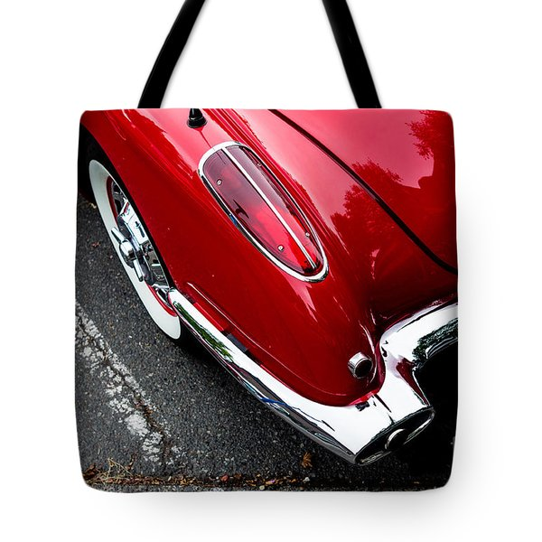 Tote Bag featuring the photograph 1959 Corvette by M G Whittingham