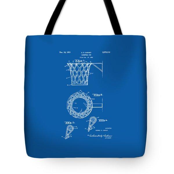 1951 Basketball Net Patent Artwork - Blueprint Tote Bag by Nikki Marie Smith