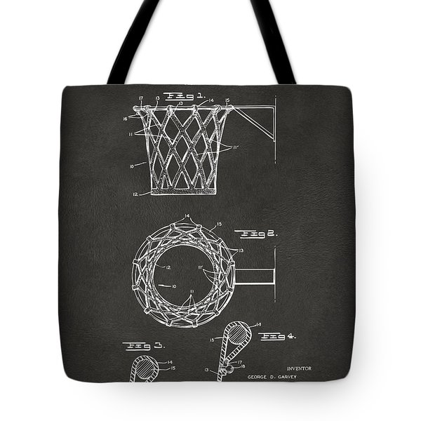 1951 Basketball Net Patent Artwork - Gray Tote Bag by Nikki Marie Smith