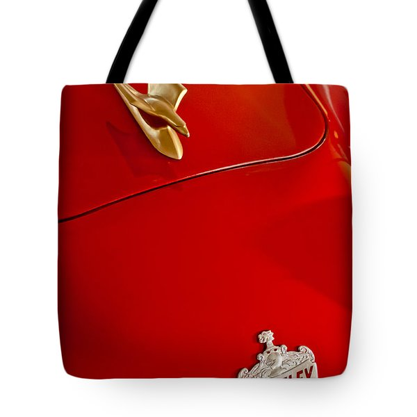 1951 Crosley Hot Shot Hood Ornament Tote Bag by Jill Reger