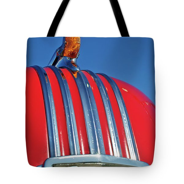 1951 Pontiac Chief Hood Ornament 2 Tote Bag by Jill Reger