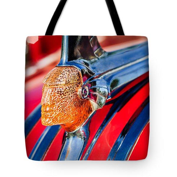 1951 Pontiac Chief Hood Ornament Tote Bag by Jill Reger