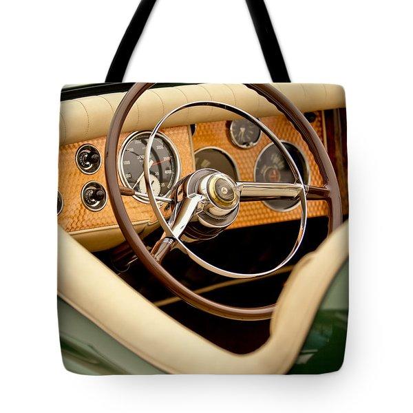 1952 Sterling Gladwin Maverick Sportster Steering Wheel Tote Bag by Jill Reger