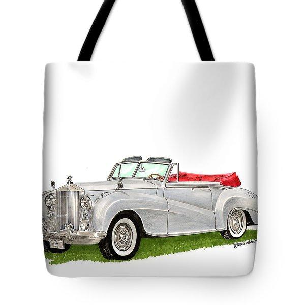 1953 Rolls Royce Silver Dawn Tote Bag by Jack Pumphrey
