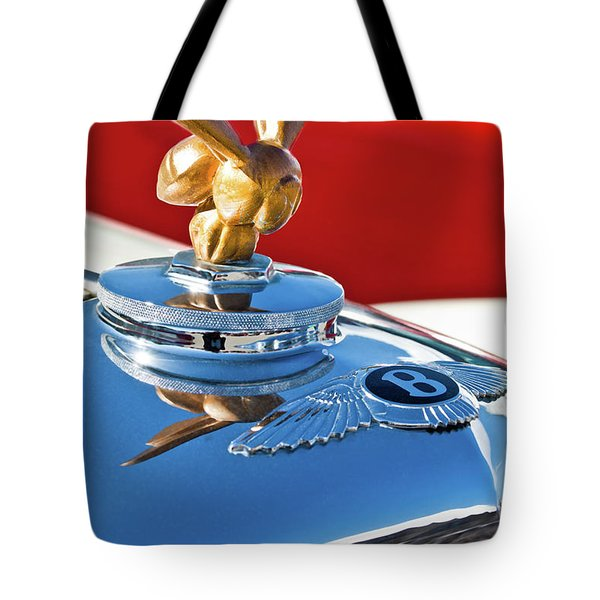 1954 Bentley One Of A Kind Hood Ornament Tote Bag by Jill Reger