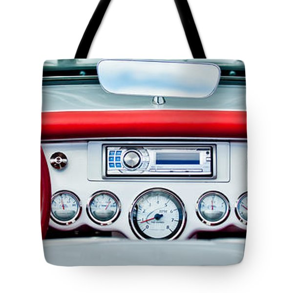 1954 Chevrolet Corvette Dashboard Tote Bag by Jill Reger