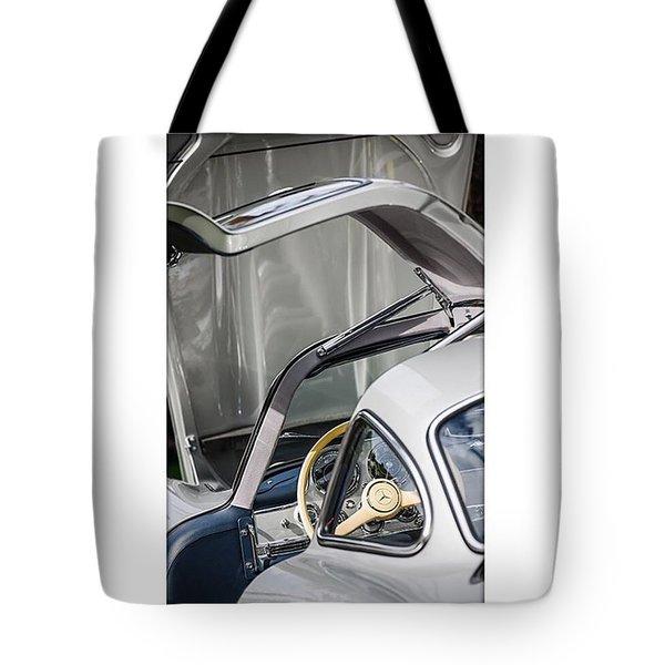 1954 Mercedes-benz 300sl Gullwing Tote Bag by Jill Reger