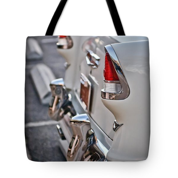1955 Chevrolet Belair Tail Lights Tote Bag by Jill Reger