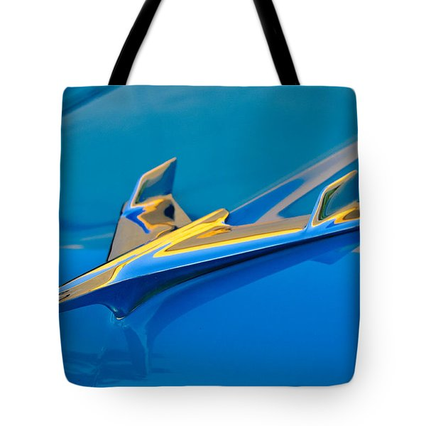 1956 Chevrolet Hood Ornament 2 Tote Bag by Jill Reger