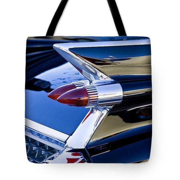 1959 Black Caddy Tote Bag by Rich Franco