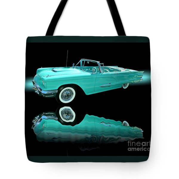 1959 Ford Thunderbird Tote Bag by Jim Carrell