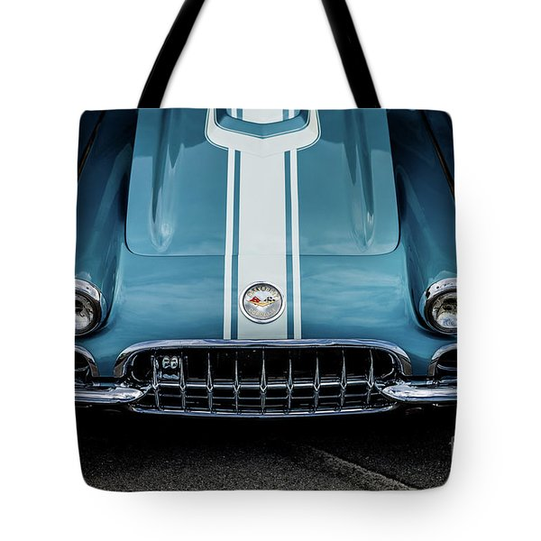 Tote Bag featuring the photograph 1960 Corvette by M G Whittingham