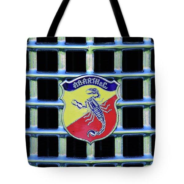 1960 Fiat Lusso Emblem Tote Bag by Jill Reger