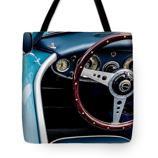 Tote Bag featuring the photograph 1961 Austin Healey 3000 by M G Whittingham