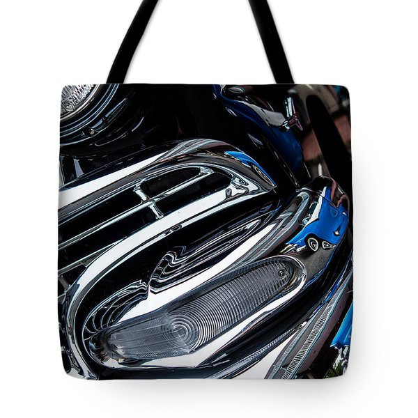 Tote Bag featuring the photograph 1958 Ford Crown Victoria Reflection 2 by M G Whittingham