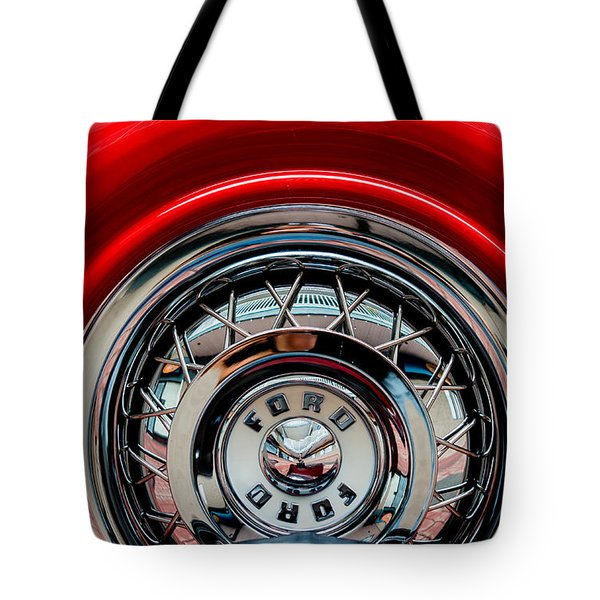 Tote Bag featuring the photograph 1958 Ford Crown Victoria Wheel by M G Whittingham