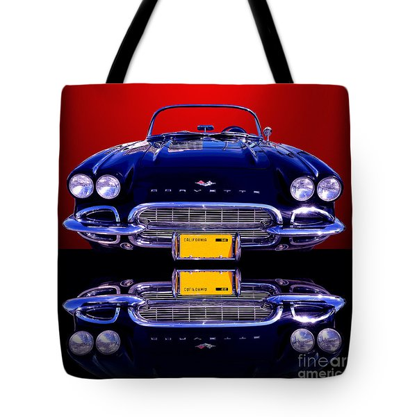 1961 Chevy Corvette Tote Bag by Jim Carrell
