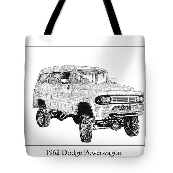 1962 Dodge Powerwagon Tote Bag by Jack Pumphrey