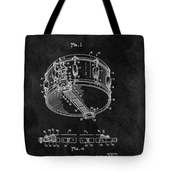 1963 Snare Drum Patent Tote Bag by Dan Sproul