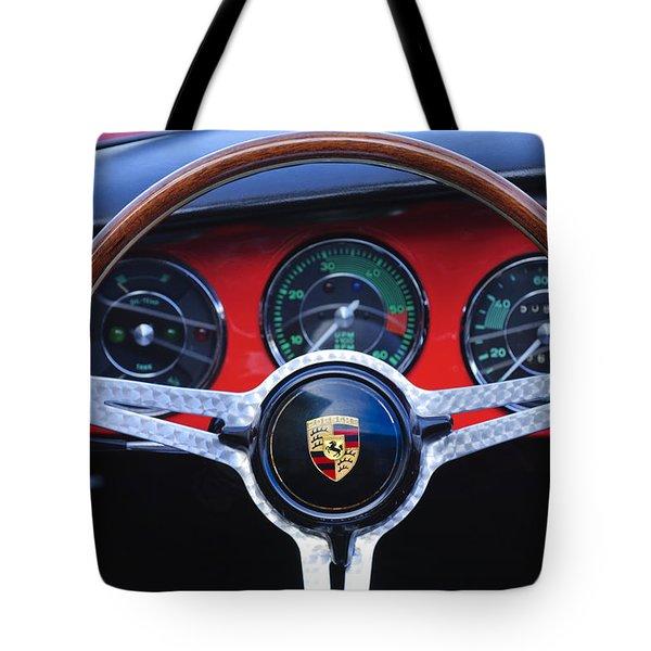 1964 Porsche C Steering Wheel Tote Bag by Jill Reger