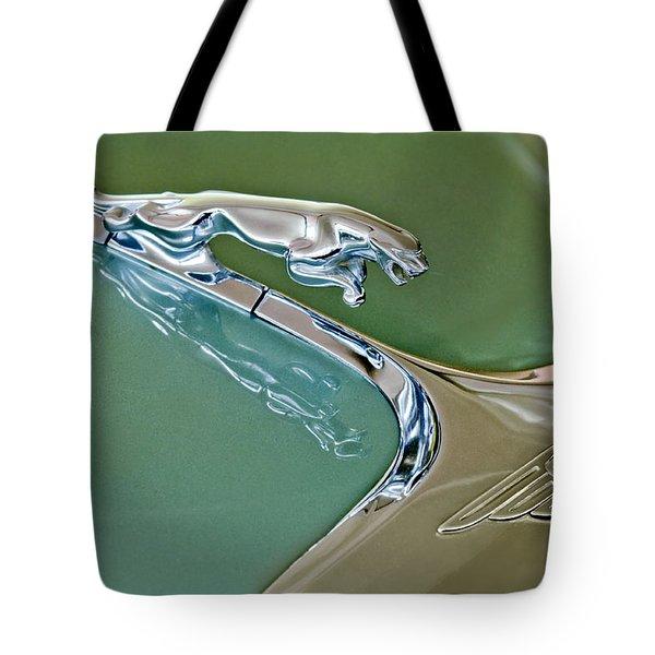 1966 Jaguar Hood Ornament Tote Bag by Jill Reger