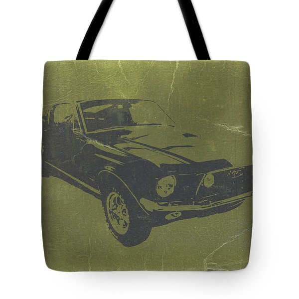 1968 Ford Mustang Tote Bag by Naxart Studio