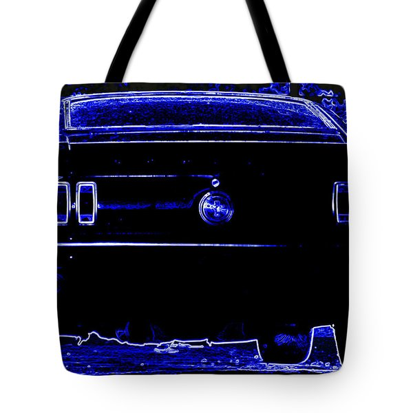 1969 Mustang in Neon 2 Tote Bag by Susan Bordelon