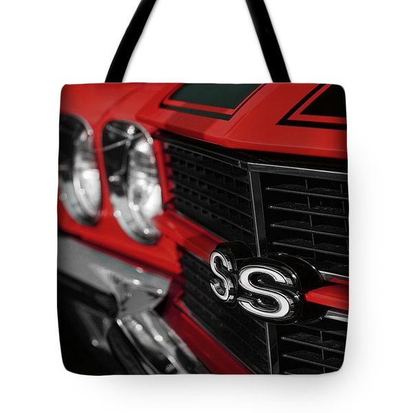 1970 Chevelle Ss396 Ss 396 Red Tote Bag by Gordon Dean II