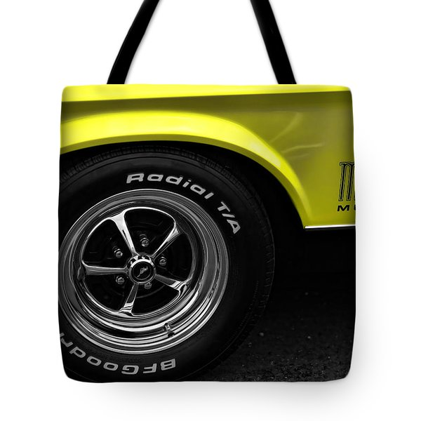 1971 Ford Mustang Mach 1 Tote Bag by Gordon Dean II
