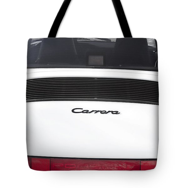 1987 White Porsche 911 Carrera Back Tote Bag by James BO  Insogna