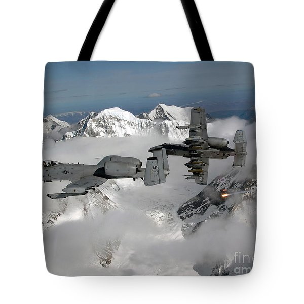 A-10 Thunderbolt Iis Fly Tote Bag by Stocktrek Images