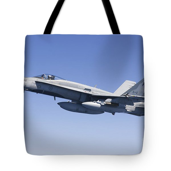A Cf-188a Hornet Of The Royal Canadian Tote Bag by Gert Kromhout