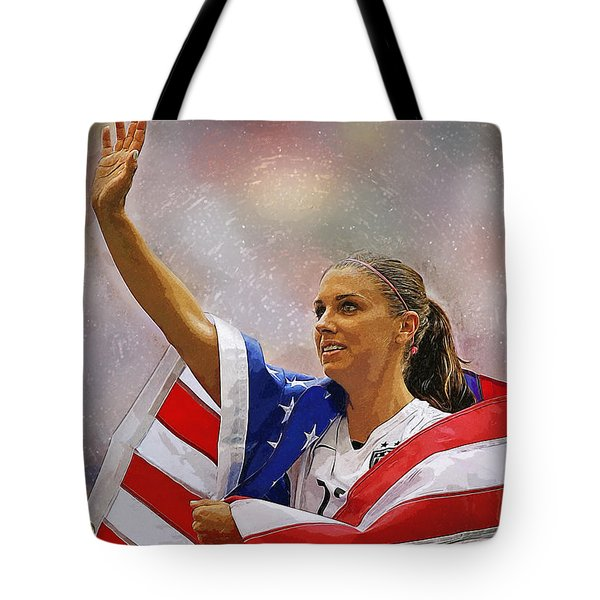 Alex Morgan Tote Bag by Semih Yurdabak