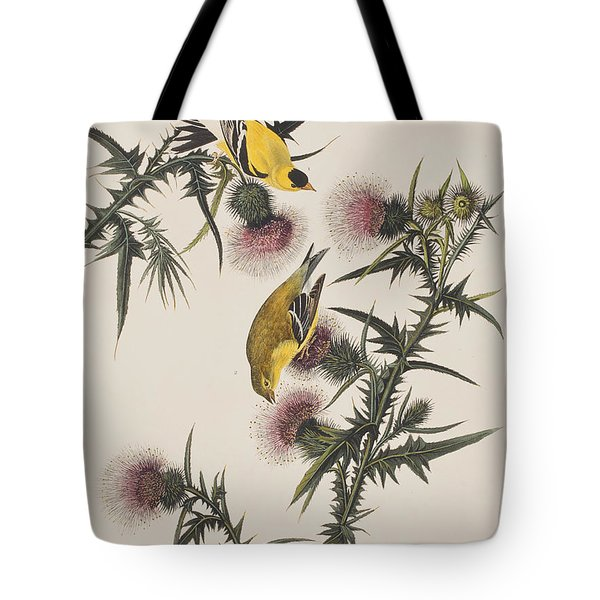 American Goldfinch Tote Bag by John James Audubon