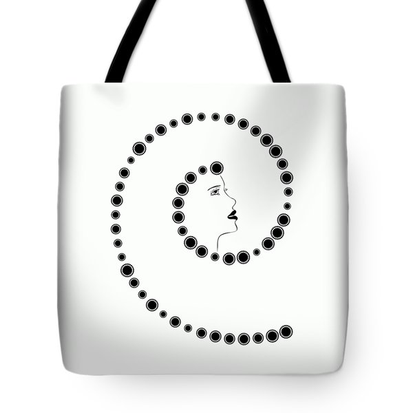 Art Nouveau Design Tote Bag by Frank Tschakert