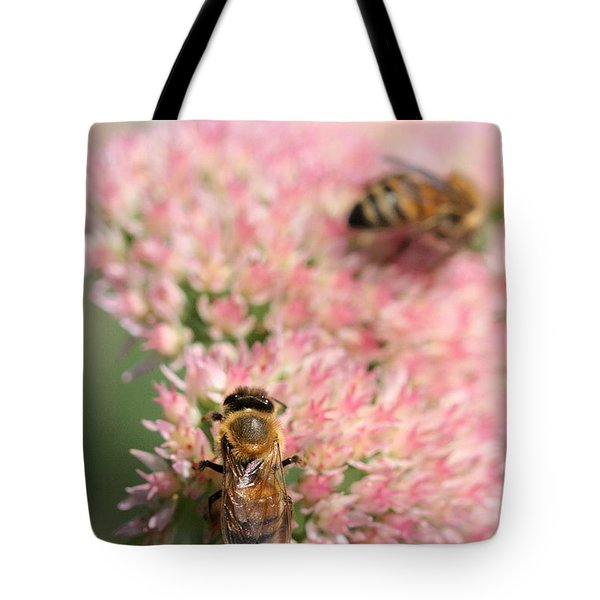 2 Bees Tote Bag by Angela Rath