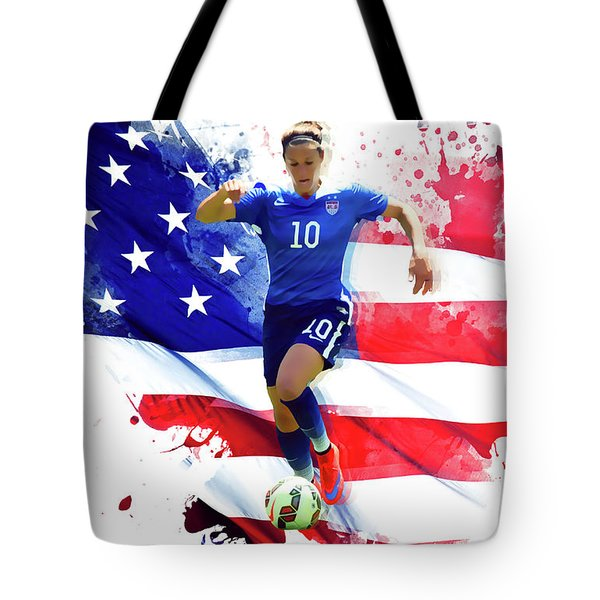 Carli Lloyd Tote Bag by Semih Yurdabak