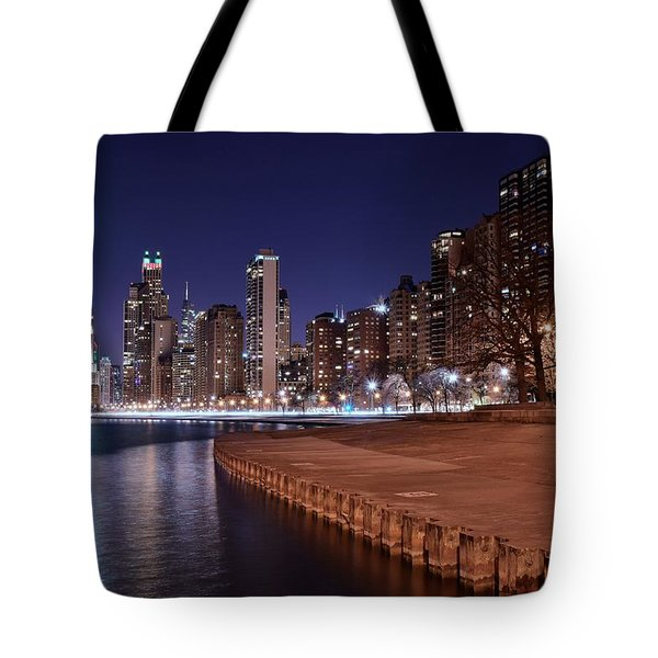 Chicago From The North Tote Bag by Frozen in Time Fine Art Photography