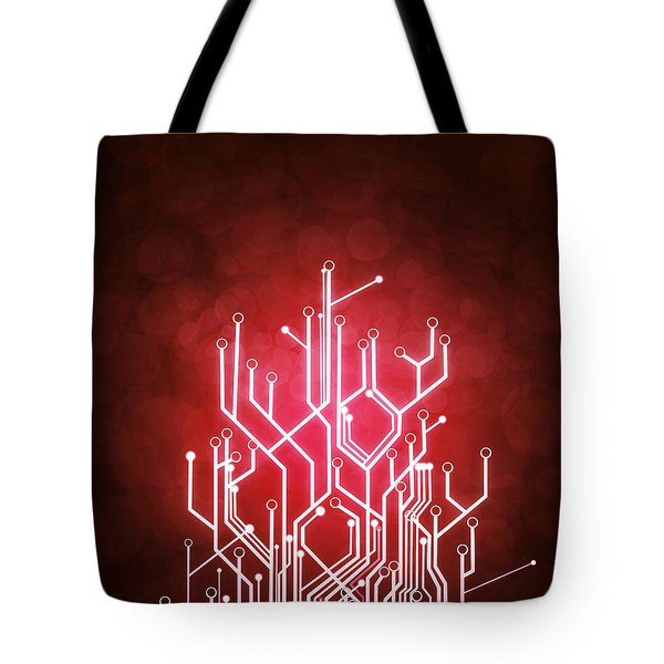 circuit board Tote Bag by Setsiri Silapasuwanchai