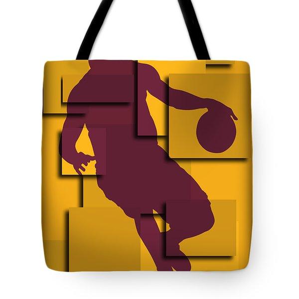Cleveland Cavaliers Lebron James Tote Bag by Joe Hamilton