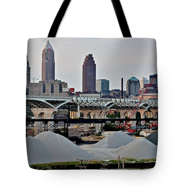 Cleveland On The Move Tote Bag by Frozen in Time Fine Art Photography