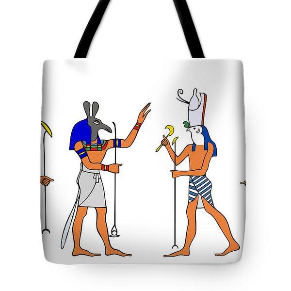 Egyptian Gods and Goddess Tote Bag by Michal Boubin