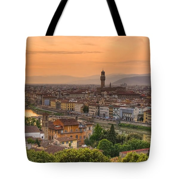 Florence Sunset Tote Bag by Mick Burkey