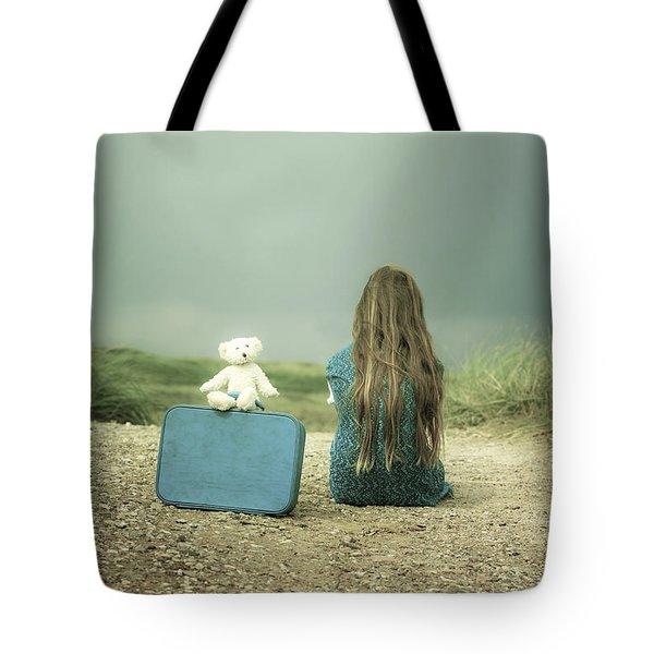 Girl In The Dunes Tote Bag by Joana Kruse