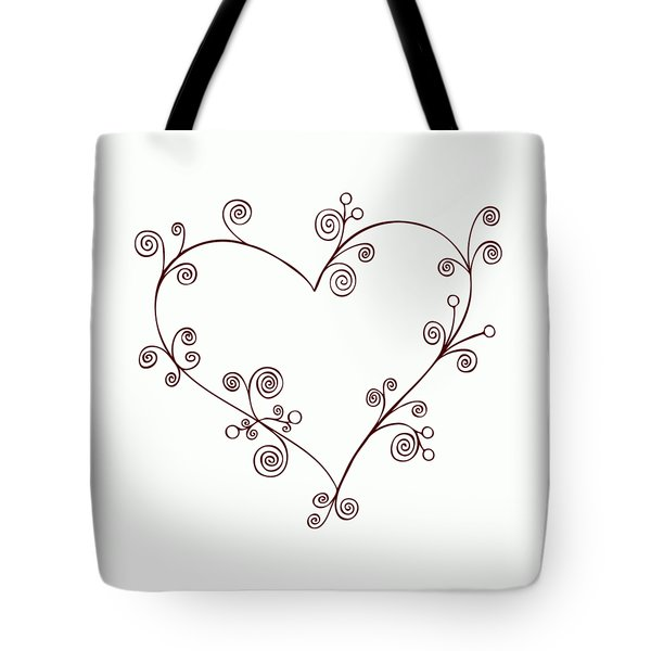 Heart Tote Bag by Frank Tschakert